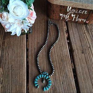 Jewelry - Natural Stone Squash Pendant, Navajo Pearl
